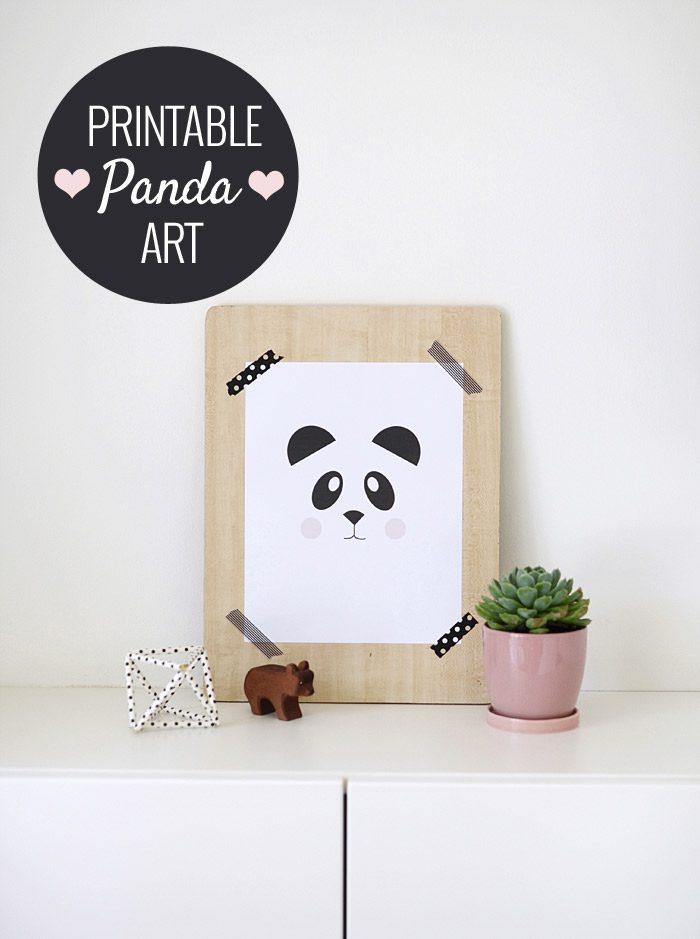 lámina panda gratis
