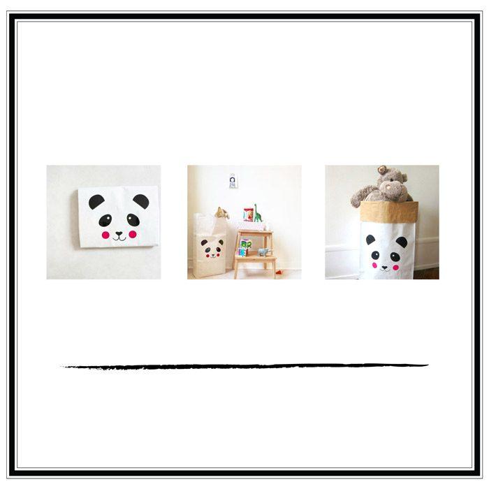 saco de papel oso panda