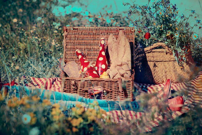 picnic con sangría lolea