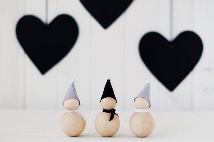 Adornos de Navidad, Diy con bolas de madera