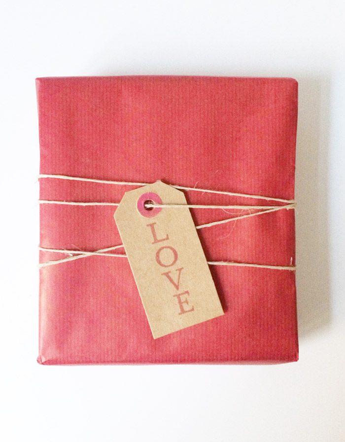 envoltorio rojo San Valentin