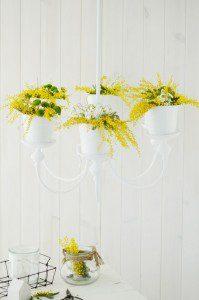 Lámpara florero con chalk Paint by Annie Sloan