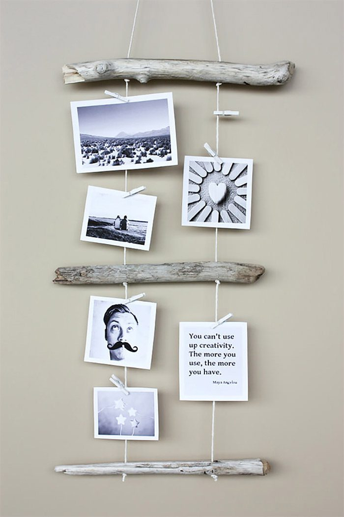 Idea para decorar con fotos